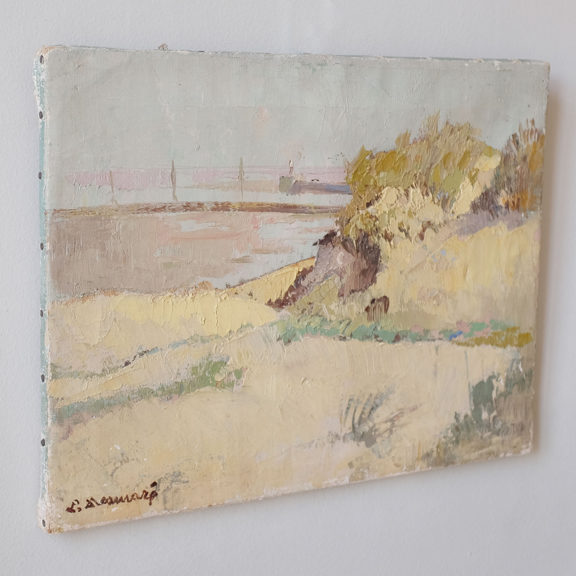 Vintage-Oil-Painting-of-Seaside-Landscape-iii
