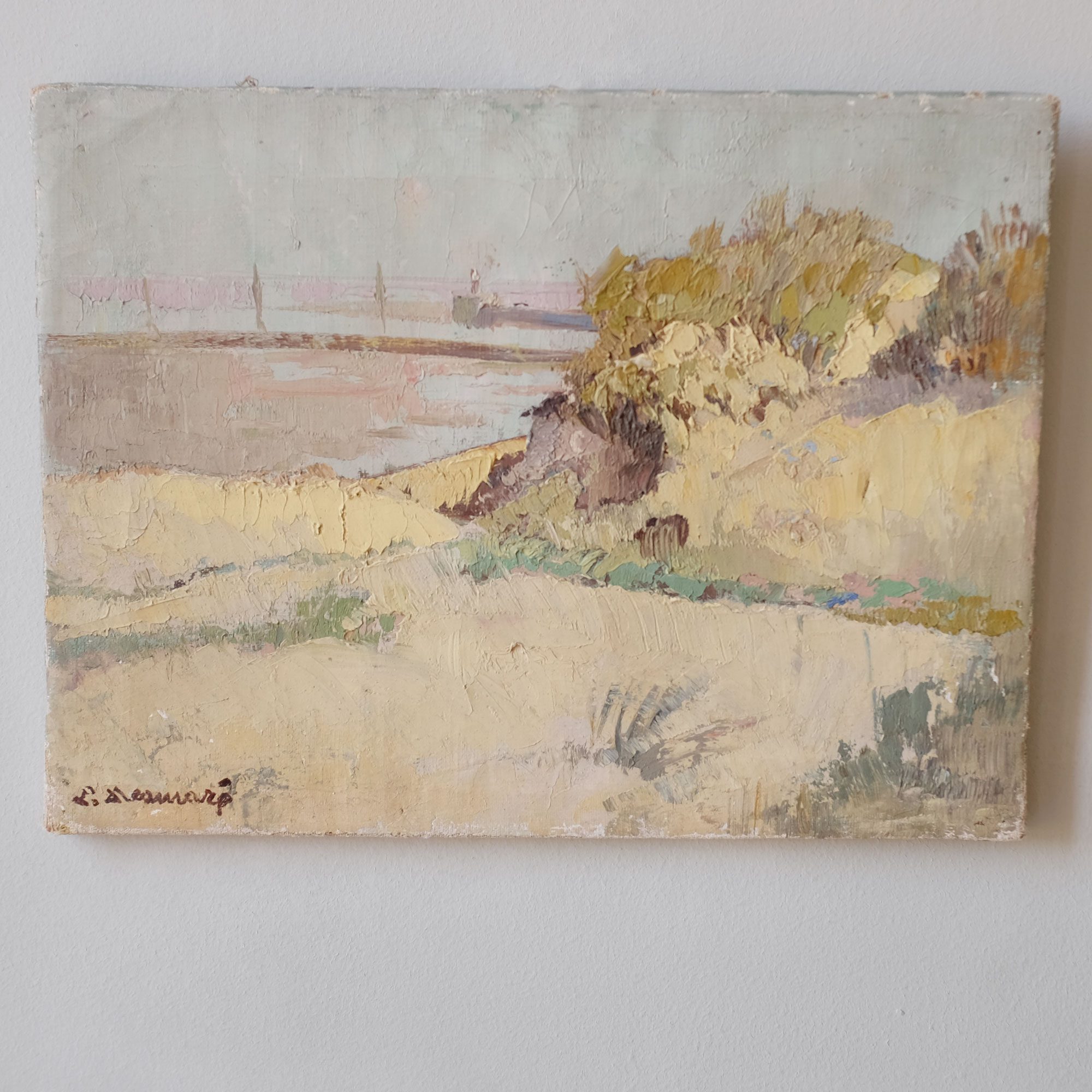 Vintage-Oil-Painting-of-Seaside-Landscape-iv